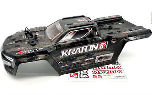KRATON 8S EXB - Body Shell (Black polycarbonate cover & Body Pins Arrma ARA5208