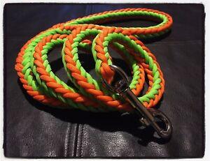 Paracord Dog Lead, Handmade, 3.5ft, Strong 8 Strand, 2 Tone, Herringbone weave.