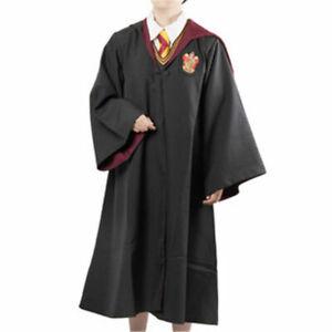 PREMIUM HP Cosplay Costume Gryffindor Robe Cloak Scarf Wand UK STOCK xmas gift
