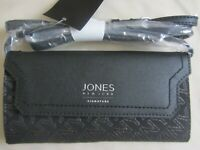 Jones New York Signature Crossbody Wallet Black Gold New With Tag MSRP 55