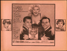 Some Like it Hot Original Herald from the 1959 Movie starting Marilyn Monroe