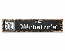 SPFN0418 The WEBSTER'S Family Name Street Chic Sign Home Decor Gift Ideas