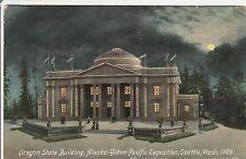 LAM(D) 1909 A.Y.P.E. Alaskan Yukon Exposition - State of Oregon Building - Night