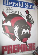Kevin Sheedy (Essendon FC) signed 2000 Weg premiers poster +Extra Message !!!
