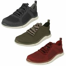Mens Clarks Lace Up Trainers Triken Run