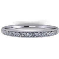 Anello Riviera Eternity Girodito in Oro 18Kt Diamante Brillante ct. 0,31 F/VS1
