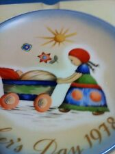 Schmid Berta Hummel 1978 Mother's Day Plate:=-Afternoon Stroll + Free X-Mas Cd