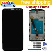 Nero LCD Display Schermo Touch Screen + Frame Per Huawei Mate 10 Lite RNE-L21