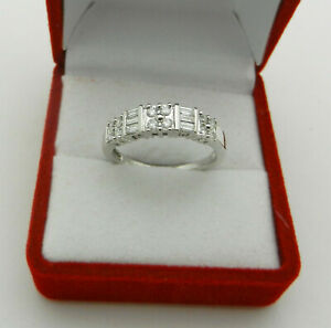 Anniversary 14k White Gold Natural Diamonds 0.40 tcw Wedding Band Ring