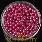 New 300pcs 6mm Round Czech Glass Pearl Loose Spacer Beads Rose