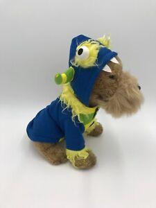Martha Stewart Pets Mr Furry Blue Horned Monster Halloween Costume