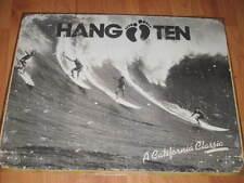 Hang Ten Surf Surfing Beach Distressed Cali Retro Classic Metal Tin Sign New