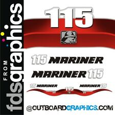 Mariner 115hp 4 stroke EFI outboard decals/sticker kit