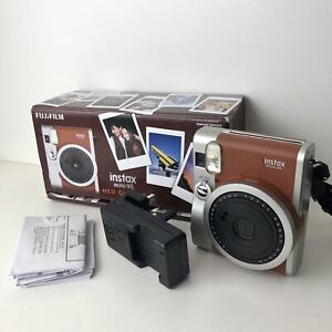 Fujifilm Instax Mini 90 Neo Classic Instant Film Camera Brown with Box + Charger