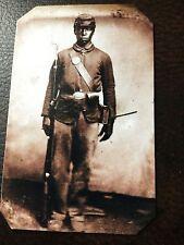 civil war African American Soldier  tintype C689RP
