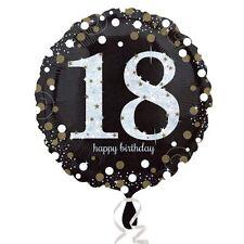 schwarz & Gold Feier 18. Geburtstag folie-ballon-geburtstags-party Dekorationen