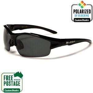 Polarised Sunglasses - Mens Black Xloop Lightweight Sports Frame- Polarized Lens
