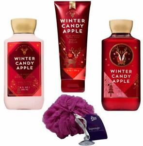 Winter Candy Apple Gift Set with Loofah