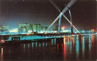 Postcard Skyline Night View St Louis Missouri