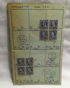 American Stamps Scott 246, 708, 712, 714 & 725 Blocks Of 4