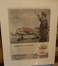 Original Vintage Advert mounted ready to frame Trans World Airlines 1951
