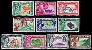 1940-51 Pitcairn Islands #1-8 (10 Stamps) - OGHR - VF - CV $69.90 (ESP#2067)