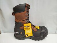 """Carhartt CMC1259 Men's 10"""" Insulated Composite Toe Pac Boots Leather Work Shoes"""