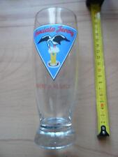 Rare tres beau verre biere d'Alsace SPECIALE JENNY CIGOGNE 25 cl STRASBOURG