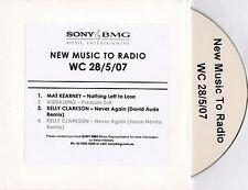Kelly Clarkson-Never Again Remixes**Rare 4 Track Australian Sony/BMG Promo CD**