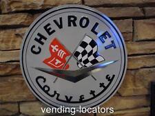 Chevrolet Corvette Model Advertising Display Metal Sign New Car / Parts Sales