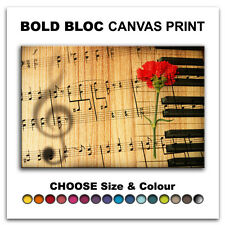Roses Flowers Love MUSIC  Canvas Art Print Box Framed Picture Wall Hanging BBD