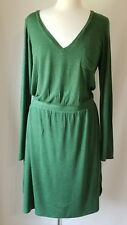 Anthropologie Bordeaux Womens Long Sleeve Dress V-Neck Size Large