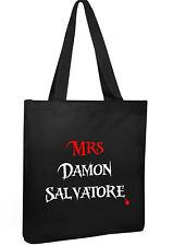 Vampire Diaries Tote Cotton Shopper Mrs Damon Salvertore college book  Bag