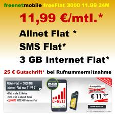 Handyvertrag mit Allnet Flat Simkarte Handy Internet Flat 3GB Vodafone D2 Netz