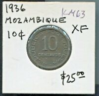 MOZAMBIQUE - BEAUTIFUL HISTORICAL 10 CENTAVOS, 1936