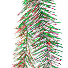 Red Green and Silver Tinsel Christmas Garland 25FT Length Holiday Decorations