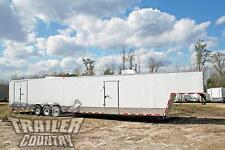 New 2021 85x48 85 X 48 Enclosed Gooseneck Cargo Car Hauler Toy Trailer Loaded