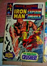 Tales of Suspense 91 MARVEL COMICS JULY 1967 10d GDVG ORIGIN Crusher vs Iron Man