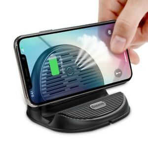 10W Qi Wireless Charger For iPhone X 8 Silicone Wirless Charging Dock Station