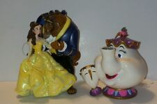 Disney Beauty And The Beast Belle Mrs. Potts Chip Christmas Ornament Set Of 2