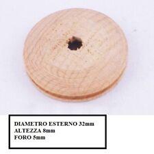spessore 5mm 20pz modellismo gola 1,5mm Pulegge legno diametro 8mm