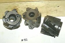 """3 Shell Mills 3"""" NC 21086 takes 24 carbide inserts .570"""" slot arbor mill milling"""