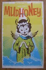MUDHONEY Unnatural Helpers DANTES PDX Screened Poster 2011 Grunge PUNK Sub Pop