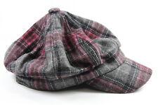 Señoras de cuadros pink/grey Look Retro Gastby Sombrero / Gorra pedazo de declaración (ht7)