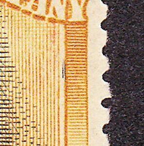 """Rhodesia 1918 3d REF 13 DIE 3B PLATE 8 STATE 2 POS 17 """"CHOPSTICKS FLAW"""" FINE MH"""