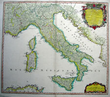1750 ITALY Adriatic SICILY * VAUGONDY 48x56cm ORIGINAL copperplate engraved