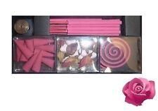 Sentidos: set inciensos perfumado sobre rosa para muebles de oficina hogar