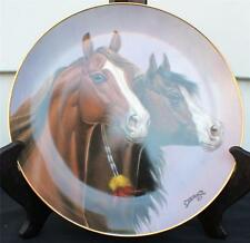 1993 Danbury Mint Porcelain Heritage of Horses Series Blood Brothers Décor Plate