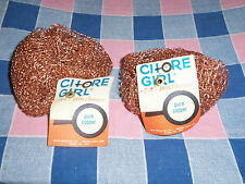Two Vintage Chore Girl Pot 'n Pan Cleaner  Pure Copper  Unused