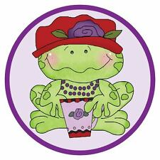 3X POLO PURPLE SHIRT W/ ADORABLE FROG WEARING HER RED HAT FOR LADIES OF SOCIETY